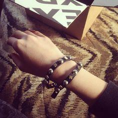 My new bracelet! #express #jewelry #crosses #black #studs / http://www.contactchristians.com/?p=6910