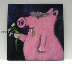 SCHWEINISCHER HEIRATSANTRAG von Herbivore11 Schwein Eber Hochzeit Comic Minibild