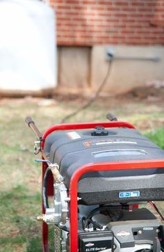 A generator is a core component to many people's emergency preparedness plans. (Maybe you have a cool charcoal powered or a multi-fuel generator. Emergency Generator, Diy Generator, Portable Generator, Power Generator, Emergency Preparedness Plan, Emergency Power, Emergency Planning, Emergency Preparation, Solar Energy