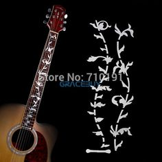 Tree Of Life Guitar Bass Fret Sticker, DIY sticker on guitar neck - beautiful vine plant design Instrumentos Musicais