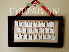 Reuse and repurpose outdated artwork or empty picture frames by making one of these unique and inventive projects.: DIY Advent Calendar