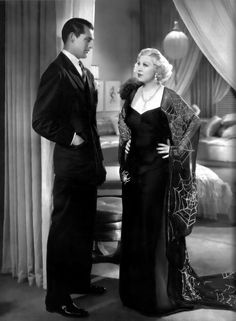Mae West quote : I like my clothes to be tight enough to show I'm a woman,but loose enough to show I'm a lady. (Portrait of Cary Grant and Mae West in I'm no Angel. Hollywood Stars, Old Hollywood Glamour, Golden Age Of Hollywood, Vintage Hollywood, Classic Hollywood, Hollywood Divas, Hollywood Couples, Hollywood Fashion, Mae West