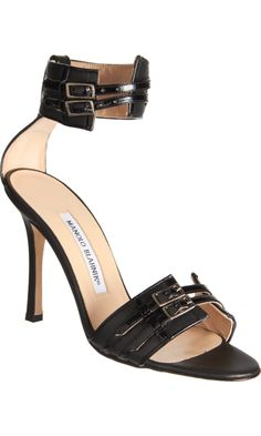 Manolo Blahnik Cavallo Sandals Black [thebest1707] - $204.00 : Discount Christian Louboutin - Jimmy Choo and other Brand shoes store