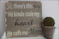 So There's This Boy, Wood Wall Art, Wood Sign, Vintage Style, Quote