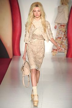 cute dress and coat, love the color Mulberry, Spring 2012