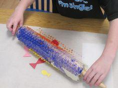 Bubble Wrap Painting from Teach Preschool