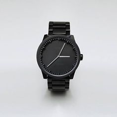 Something out of the ordinary for you this Monday - the tube watch S42 black #leffamsterdam #tubewatch #pietheineek #ordinarymonday