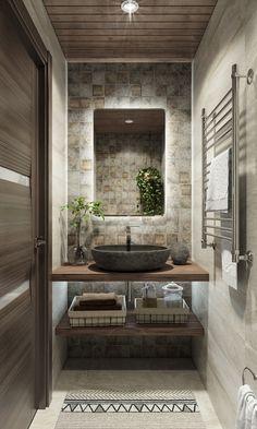 Washroom Design, Bathroom Design Luxury, Bathroom Layout, Modern Bathroom Design, Home Room Design, Home Interior Design, Washbasin Design, Powder Room Design, Bathroom Design Inspiration
