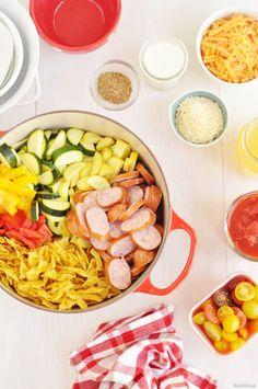 Keilbasa and pasta