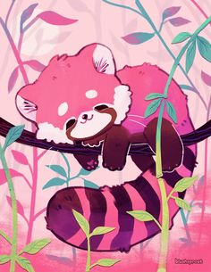 Sleepy Red Panda Print – blushsprout