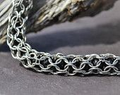 Handmade bracelet, Cage bead, Silver, Jewelry, Gift idea, Chain maile, Necklace, FREE SHIPPING