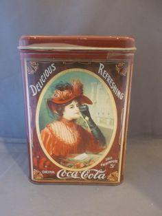Drink Coca Cola Delicious Refreshing Tin Metal Box