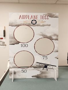Printed & Diecut party game   Aviation theme