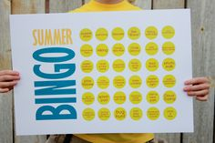 Summer Bingo - when you get 6 in a row you get ice cream and if you get a blackout, you go to a favorite restaurant!