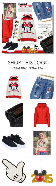 """sheIn #8"" by cherry-bh ❤ liked on Polyvore featuring Giorgio Armani, GALA, Whiteley, Anya Hindmarch and Disney"