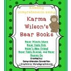 58 pages for $10.00 Karma Wilsons bear books have delightful story lines addressing issues such as being healthy, our fears, friendship, and bear facts.  Her books wo...