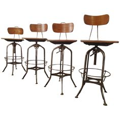 Refinished Toledo Factory Stools OFFERED BY HORSEMAN ANTIQUES INC. $4,500