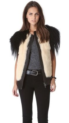 Skaist Taylor Mixed Fur Vest | SHOPBOP
