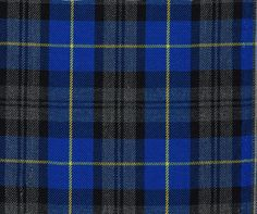 Blue Hunting Tartan Poly Viscose Dress Fabric by the Meter is great for making Dresses, Bows, curtain, crafts or for lining.