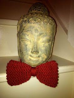 Red woolen bow tie