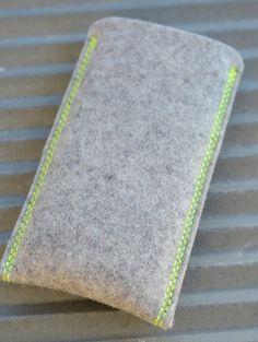 Handytaschen - Filztasche für iPhone 6 S, 6S Plus ACID - ein Designerstück von Antjes bei DaWanda