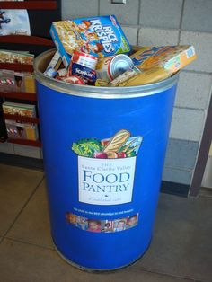 The City has food donation bins at five locations around Santa Clarita. Food Bank Donations, Canned Food Drive, Little Free Pantry, Food Shelf, Toys For Tots, Santa Clarita, Cafe Menu, Harvest Hope, Donation Boxes