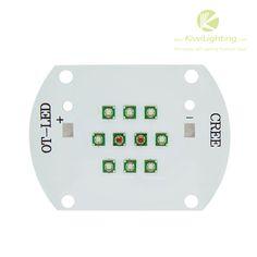 30W Cree XP-E LED grow light - 8 red LEDs 2 blue LEDs - Kiwi Lighting Cree XP-E LED grow light, 8 red LEDs, 2 blue LEDs, VF: 24-26V, IF: 1A, 30 watt, + $17.99