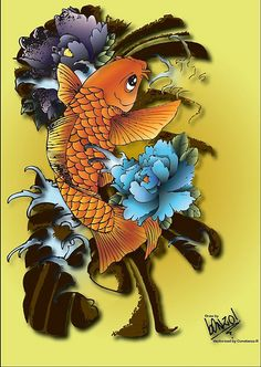 another option. Pez Koi Tattoo, Hobbies And Crafts, Baby Love, Tatting, Rooster, Fall, Tatoos, Sea, Google