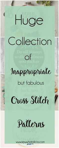 Cross Stitch Patterns that are Inappropriate but Fabulous: These patterns are not for the faint of heart. If you are easily offended please don't open these. Click through for a full list of inappropriate cross stitch patterns. #crossstitch #handmade | www.sewwhatalicia.com
