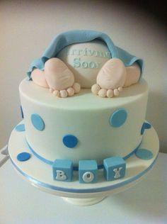 Baby shower baby bum cake