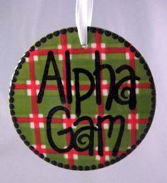 holiday ornament for alpha gamma delta