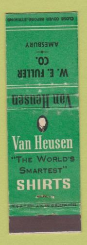 Matchbook-Cover-Van-Heusen-Mens-Clothes-WE-Fuller-Amesbury-MA