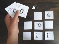 DIY ESL Activity: Memory sounds game of English Vowels for Spanish speaking kids