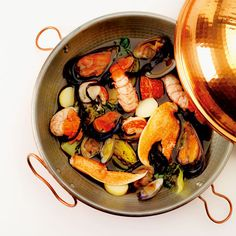 Cataplana is a Portuguese seafood dish, popular on the country's Algarve coast.