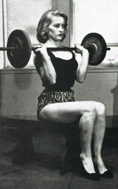 Pumping iron like a lady