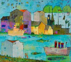 "Fancy Boat 34""x30"" acrylic on canvas  Tyler White Gallery - Greensboro, NC"