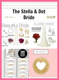 Gorgeous jewelry for the bride and a perfect gift for the wedding party ladies! Order here:http://www.stelladot.com/sites/lizurban