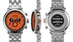Would go well with my orange Pumas! THE RUNWELL CONTRAST CHRONO 47mm   Shinola®