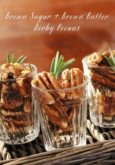 Toss pecans with butter and brown sugar, then toast them and sprinkle with sea salt for a tasty bar snack. Get the recipe at Taste.Savor.Share.   - CountryLiving.com