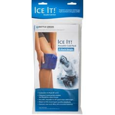 """ICE IT! E-PACK 6"""" X 12"""" * Sold by each * Size: 6"""" x 12"""" * Use alone or as refill for model 512 or 516 * Removable cold packs have a patented non-toxic fill which freezes quickly & retains cold longer than conventional ice packs * Ice It! cold packs stay soft & flexible even fully frozen,to mold smoothly around body curves & painful areas * Stay-Put holster has an insulated cover that prevents drippy condensation & also helps to keep packs cold even longer * Latex-free design"""