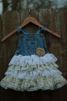 Lace skirt overalls