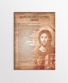 Błogosławieństwo domu - obraz z zawieszką (Pantokrator) Magdalenium Music Humor, Madonna, Prayers, God, Cover, Books, Life, Polish, Bible