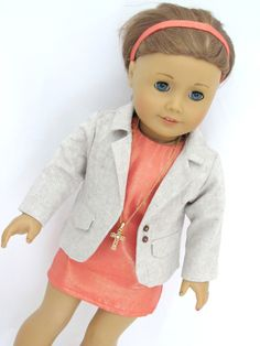 Handmade American Girl Doll Clothes Trendy Sheath Dress and Jacke by AvannaGirl on Etsy https://www.etsy.com/listing/225063453/handmade-american-girl-doll-clothes