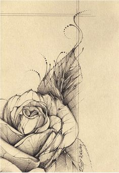 Vintage rose Tattoo Design