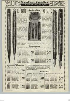 Wahl Doric 1930's advertisement