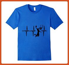 Mens My heart beat for basketball T-shirt lover brother son gift 2XL Royal Blue - Sports shirts (*Partner-Link)