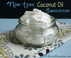 How To Make Non-Toxic Coconut Oil Sunscreen...http://homestead-and-survival.com/how-to-make-non-toxic-coconut-oil-sunscreen/