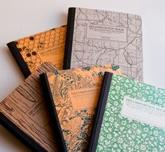decomposition notebooks. beautiful covers.