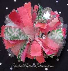 http://www.facebook.com/pages/Spoiled-Rotten-Cotton-Boutique/132728380133473  Fabric Rag Bows