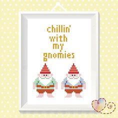 Funny Cross Stitch DIY Gangster Quote Gnomies by SundownStitcher Cross Stitching, Cross Stitch Embroidery, Embroidery Patterns, Butterfly Embroidery, Cross Stitch Kits, Cross Stitch Patterns, Stitch Witchery, Do It Yourself Inspiration, Labor